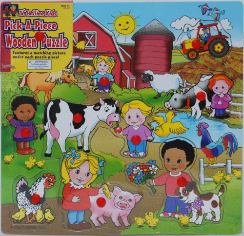 Cheap Forever Toys Lil'Kids Fun Wooden Puzzle Farm (B001CM30P2)