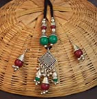 Necklace sets - Navratri Dandia Special Antique Finish Necklace