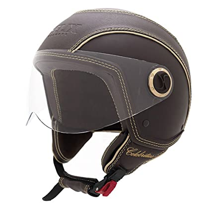 NZI 150213G124 Celebrities SOBR Casque de Moto, Marron, Taille : M