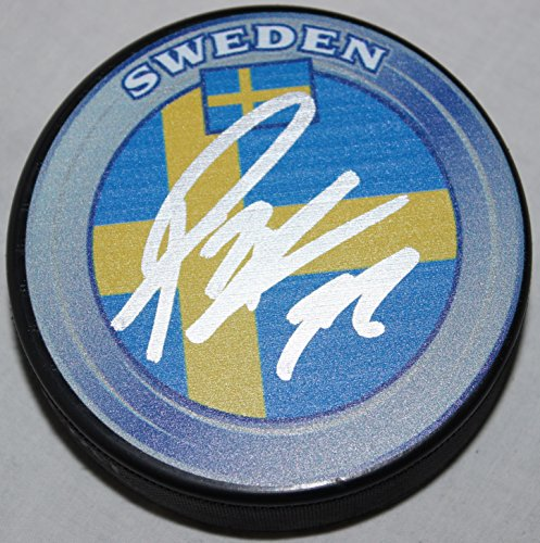Patric Hornqvist Signed Sweden National Hockey Puck COA