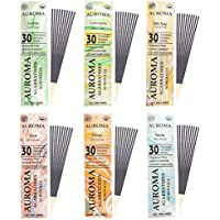 Auroma Agarbathies Auroville Wood Incense Stick (240 G,20 Cm, Pack Of 6)