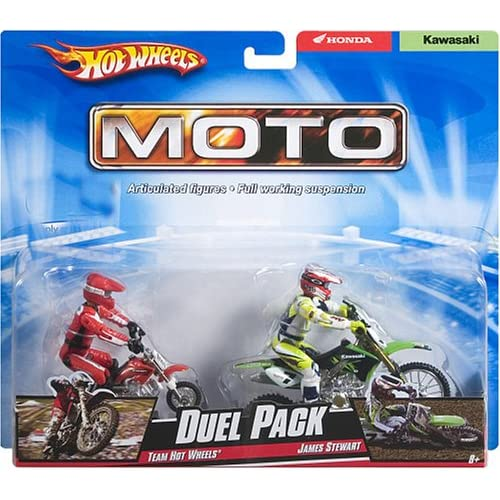 Amazon.com: JAMES BUBBA STEWART HOT WHEELS DUEL PACK TOY DIRTBIKE