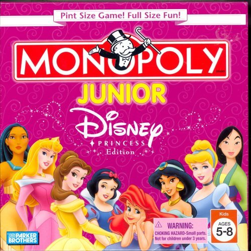 Disney Princess Edition Pint Size Monopoly Junior Game - 1