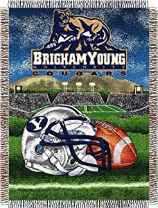 Northwest Brigham Young Cougars Acrylic Tapestry Decorative Throw 48x60 by Northwest