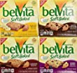 Nabisco, Belvita, Soft Baked Breakfast Biscuits Variety Pack, 8.8oz Boxes (Pack of 4 Different Flavors)