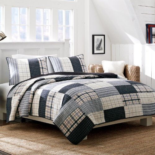Nautica Longview Cotton Quilt, Twin back-978153