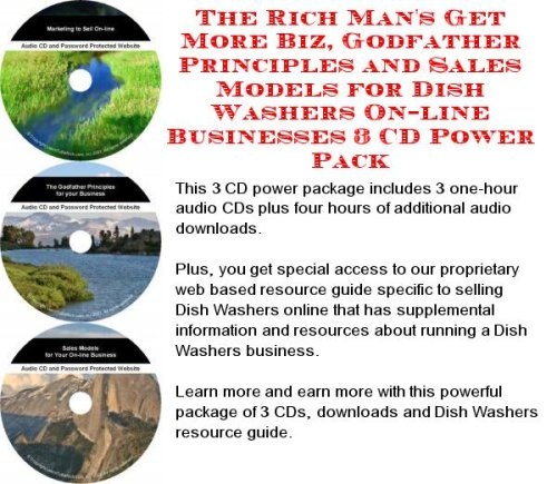 The Rich Man'S Get More Biz, Godfather Principles And Sales Models For Dish Washers On-Line Businesses 3 Cd Power Pack front-15932
