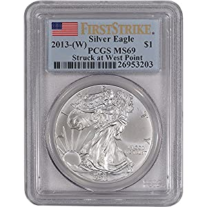 2013-(W) American Silver Eagle - PCGS MS69 - First Strike - Flag Label