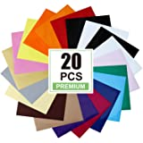 CAREGY HTV Heat Transfer Vinyl Bundle 20 Pack Assorted Colors 12