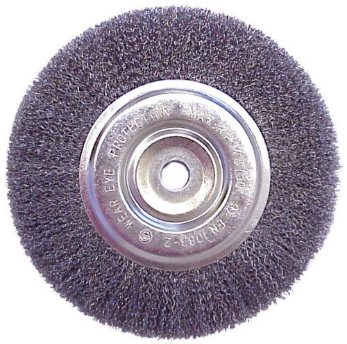 """Mercer Industries 187010 Crimped Wire Wheel, 4"""" x 1/2"""" x 5/8""""-11"""