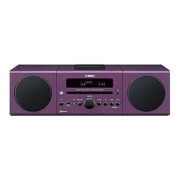 Yamaha MCRB142PP Chaîne Hifi avec Tuner FM Bluetooth/CD/Station d'accueil pour ipod et iphone Pourpre