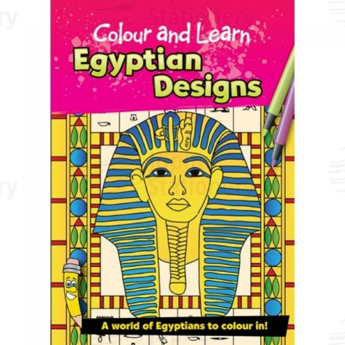 Colour and Learn Egyptian Designs Colouring Book/Teacher's Resource zeki b1987 13ru