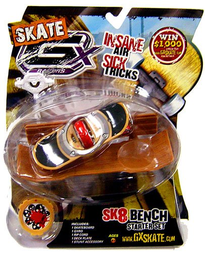 GX Racers Skate SK8 Bench Stunt Starter Set with Scarez Deck Plate [Free Ride Board]