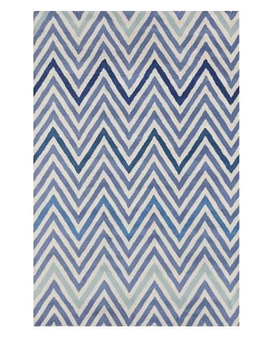 Filament Emiko Hand-Tufted Wool Rug, Blue, 5' x 7' 6