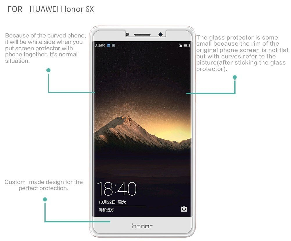 9h Hardness Ultra Clear, Antiscratch, Bubble Free, Antifingerprints &  Oil Stains Coating For Huawei Honor 6x At Best Prices  Amazon