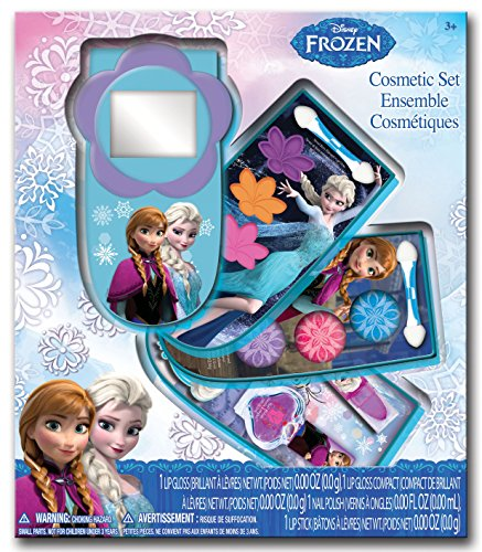 Disney Frozen Cosmetic Cell Phone Swivel Compact Makeup Kit - lip gloss, lipstick, nail polish, and more