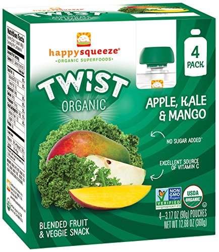 Happy Squeeze Twist Organic, Apple Kale Mango, 3.17 Ounce (Pack of 16) (Fruit Twists compare prices)