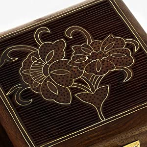 Handmade Indian Wood Jewelry Box - 10 x 10 x 5.5 cm Small Wood Box - Jewelry Box - Best Gifts for Women