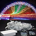 inextStation LED Light 110V 6W Pretty RGB Multi Color 10m 32.8ft 100 LED Bulbs Fairy Light String Holiday LED Outdoor Lighting for Christmas Party Decoration Waterproof