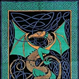 Celtic Dragon Tapestry-Coverlet-Bedspread-Home Decor
