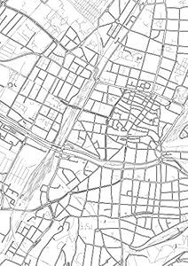 Freiburg Poster - Stadtplan, Stadtkarte, Plakat, Kunstdruck, Staßennetz und Wandposter (in A1, 60 cm x 84 cm) von Freiburg im Breisgau, Deutschland, Design von gridlines: modern, zeitlos, stilvoll, elegant, minimalistisch, geschmackvoll, künstlerisch, i