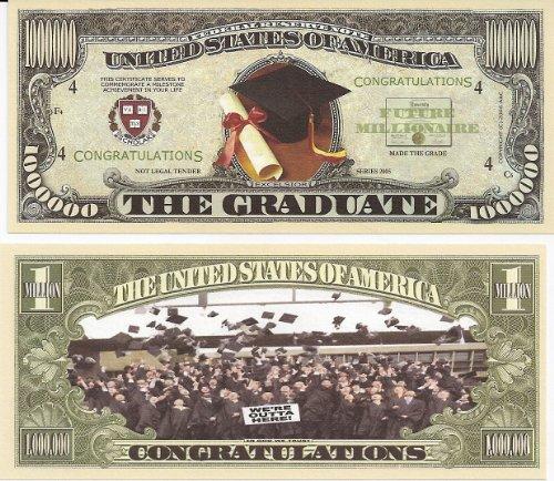 Graduation Million Dollar Novelty Bill Collectible