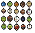 20 Count - Variety Coffee Vue Cup Sampler for Keurig Vue Brewers - Starbucks, Green Mountain, Caribou, Tully's, folgers etc