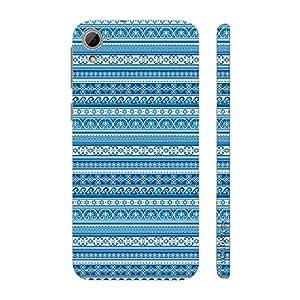 Enthopia Designer Hardshell Case Blue Aztec Back Cover for HTC Desire 826