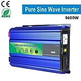 DOLPHINEGG 1000w Inverter Off Grid Inverter dc12v/24v to ac 220v Pure sine Wave car Power Inverter,DC12VTOAC220V (Tamaño: DC12VTOAC220V)