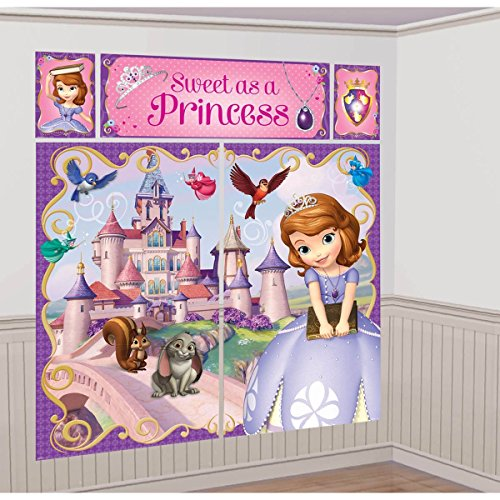 Disney Princess Sofia the First Scene Setter Wall Decorations Kit - Kids Birthday and Party Supplies Decoration