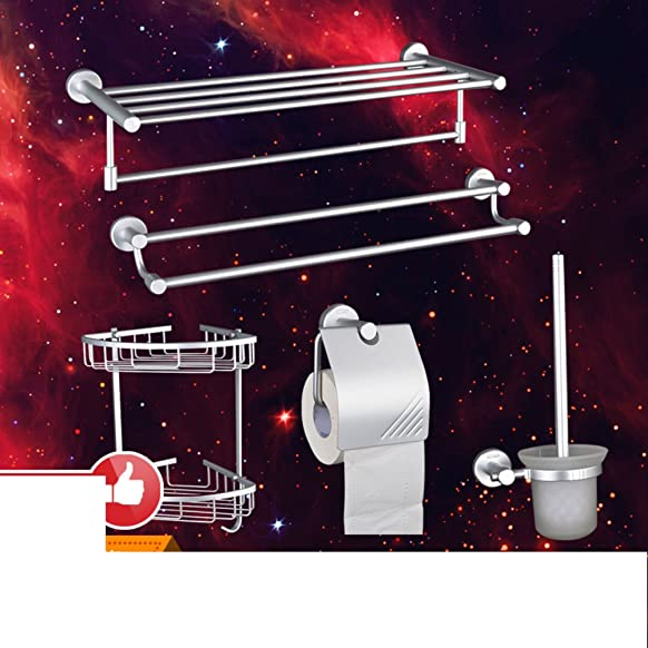 finestra di portasciugamani in alluminio spazio/Bagno accessori da bagno/Barra di tovagliolo/Asciugamano/Rack/Cestello in alluminio/set da bagno-A