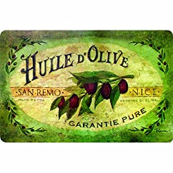 Apache Mills 60-122-0149-18X30 Vintage Olive Oil Kitchen Mat 18-Inch by 30-Inch