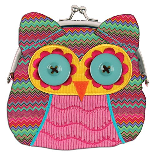 Stephen Joseph Owl Signature Coin Plush Purse
