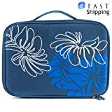 Teal Floral Portable DVD Player Bag 9 inch - 10 inch fits RCA DRC6377 7-Inch Portable DVD Player