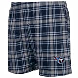 Tennessee Titans Countdown Knit Boxer Shorts Navy Blue at Amazon.com