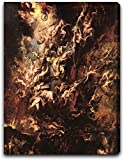 """The Fall of the Damned by Peter Paul Rubens - 20"""" x 25"""" Extra Thick 2.5"""" Gallery Wrapped Premium Canvas Print"""