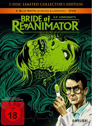 Bride Of Re-Animator (3-Disc Limited Collector's Edition) (Uncut) [2 Blu Rays + 1 DVD] [Blu-ray] [Limited Edition]