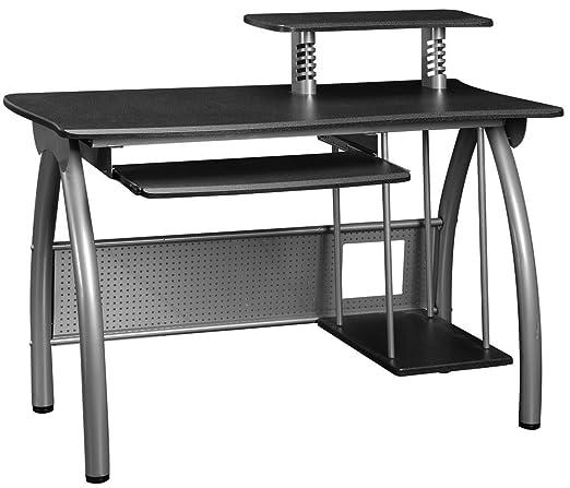 Bureau informatique stratifié coloris gris, H960 x L1200 x P600 mm -PEGANE-