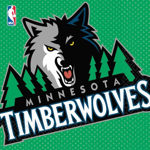 Amscan 203657 Minnesota Timberwolves Basketball - Lunch Napkins