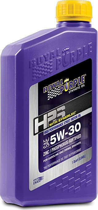Royal Purple 36530-6PK HPS 5W-30 Synthetic Motor Oil with Synerlec Additive Technology - 1 qt. (Case of 6)