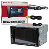 2018 Pioneer Car Audio Double Din 2DIN 6.2 Touchscreen DVD MP3 CD Stereo Built-in Bluetooth & DCO Waterproof Backup Camera with Nightvision (Tamaño: 2018 Model)