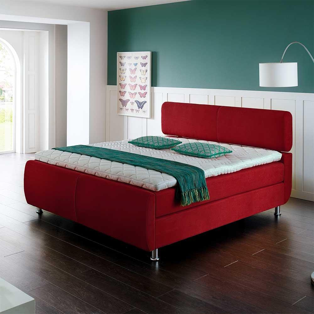 Boxbett in Rot Matratze (3-teilig) Breite 142 cm Liegefläche 140×200 Pharao24 online kaufen