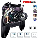 Mobile Game Controller,4-in-1 Power Bank Cooling Fan,Mobile Gaming Trigger for PUBG/Fortnite/Rules of Survival Gaming Joysticks,Android iOS Phone Game Shoot and Aim,Upgrade Mobile Game Controller (Color: black)