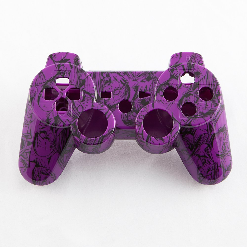 Purple Zombie Hydro-Dipped Custom Controller Shell for PS3 hydro пиджак