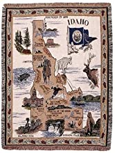 State of Idaho Tapestry Throw Afghan Blanket 50quot x 60quot