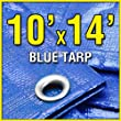 10' X 14' Blue 6-mil Waterproof Poly Tarp Camp Tarp 10x14 Tarpaulin for Camping Tent Shelter Shade Canopy etc.