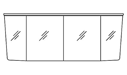 Pelipal Vialo Mirror Cabinet (Vl-Sps 05 Bathroom / Comfort N / 182 CM