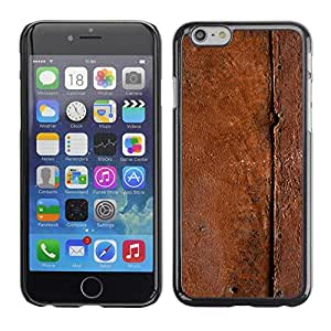 Omega Covers - Snap on Hard Back Case Cover Shell FOR Iphone 6/6S (4.7 INCH) - Metal Pattern Nature Brown