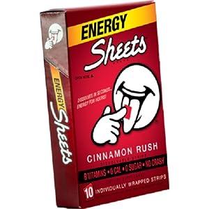 Sheets Energy Strip 10-Pack, Cinnamon Rush