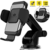 ZeeHoo Automatic Clamping Wireless Car Charger Mount,10W/7.5W Qi Fast Charging Car Phone Holder,Windshield Dashboard Air Vent Compatible with iPhone Xs MAX/XS/XR/X/8/8+,Samsung S10/S10+/S9/S9+/S8/S8+ (Color: Black)